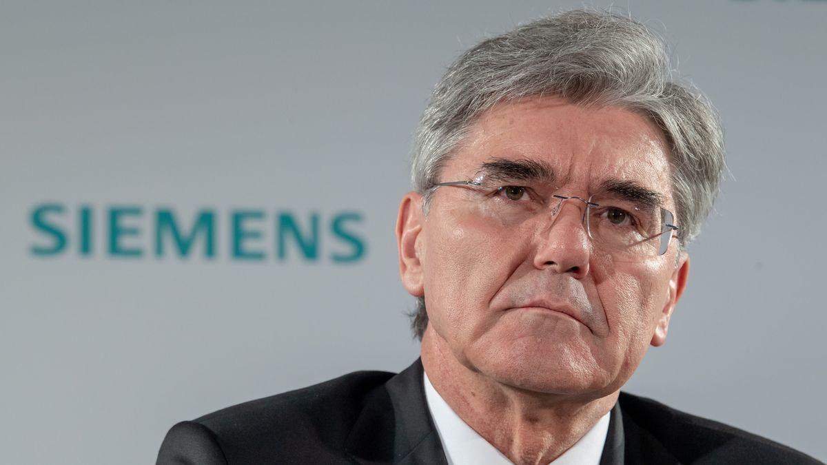 Joe Kaeser, Vorstandsvorsitzender von Siemens, während einer Pressekonferenz