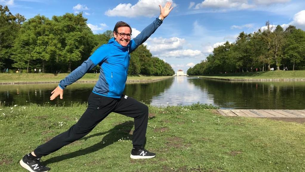 Martin Halle trainiert im Nymphenburger Park