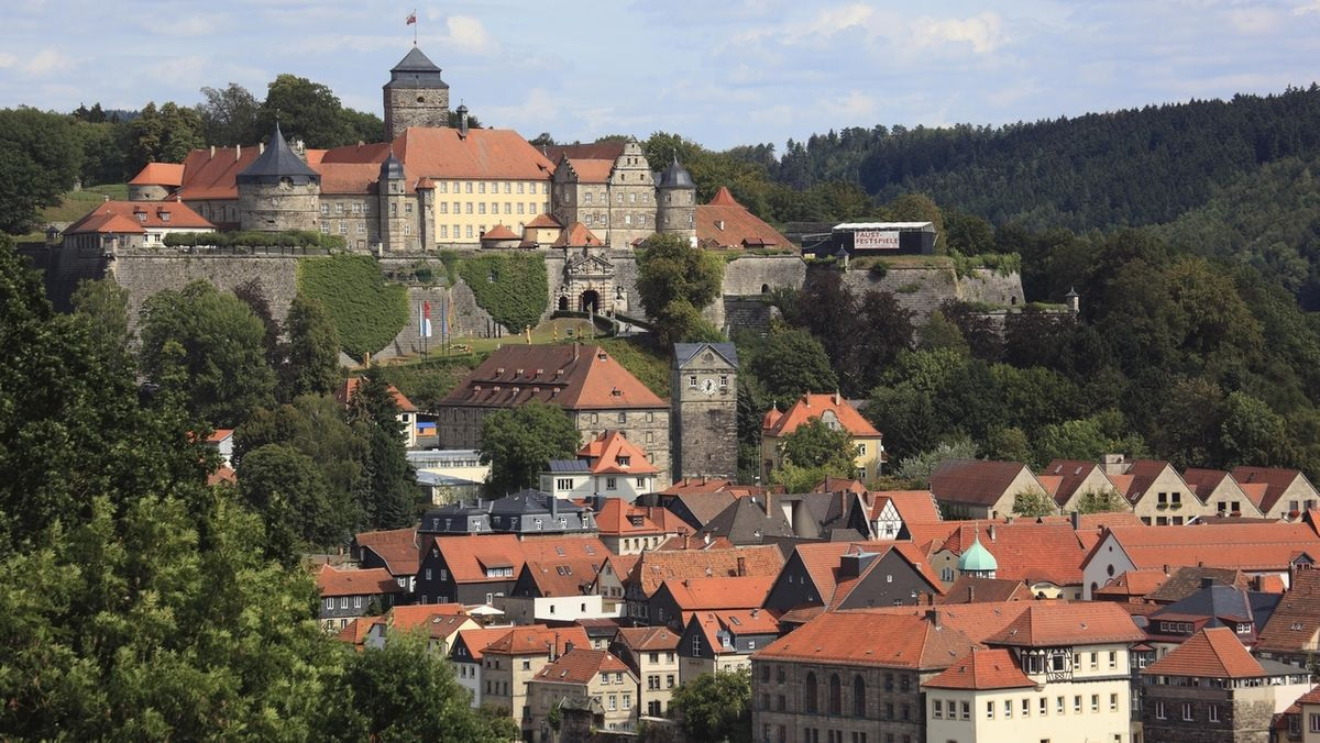 Die Veste Rosenberg in der Stadt Kronach.