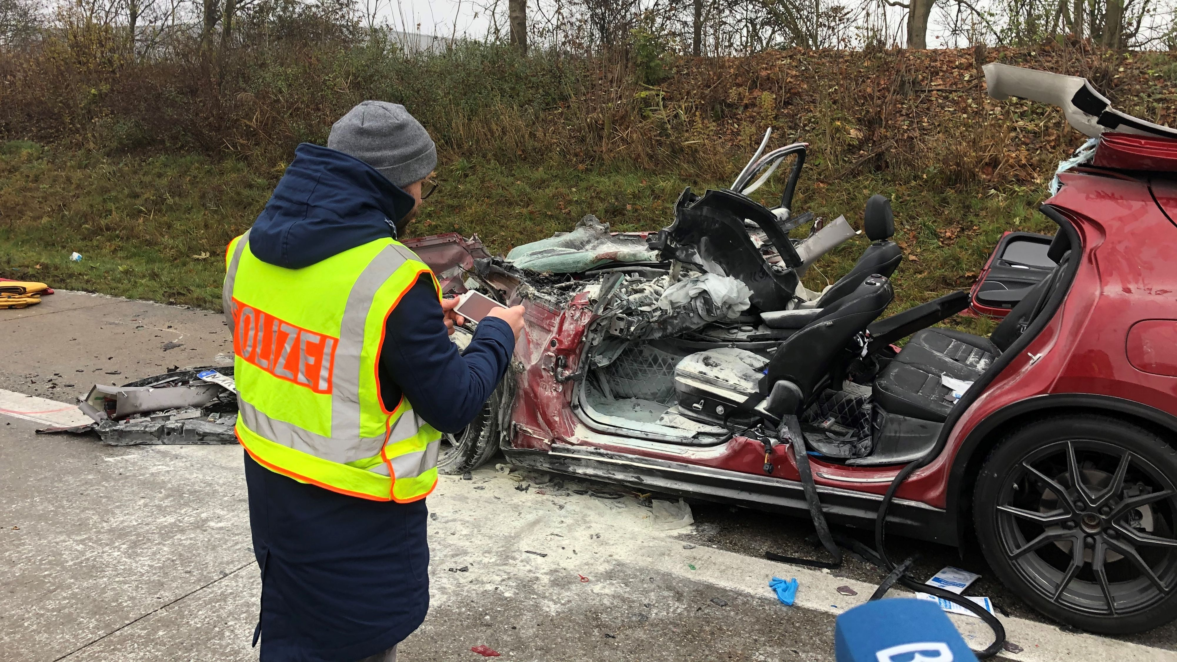 Unfall auf der A92 Richtung Deggendorf