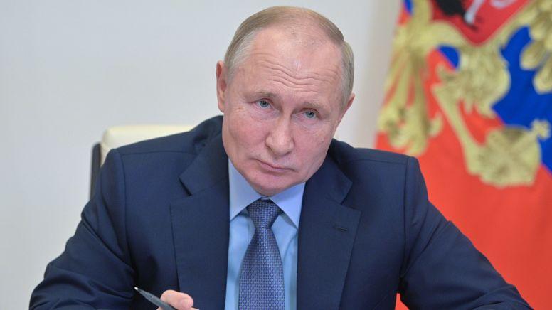 Der russische Präsident Putin   Bild:pa/dpa/Sputnik   Alexei Druzhinin