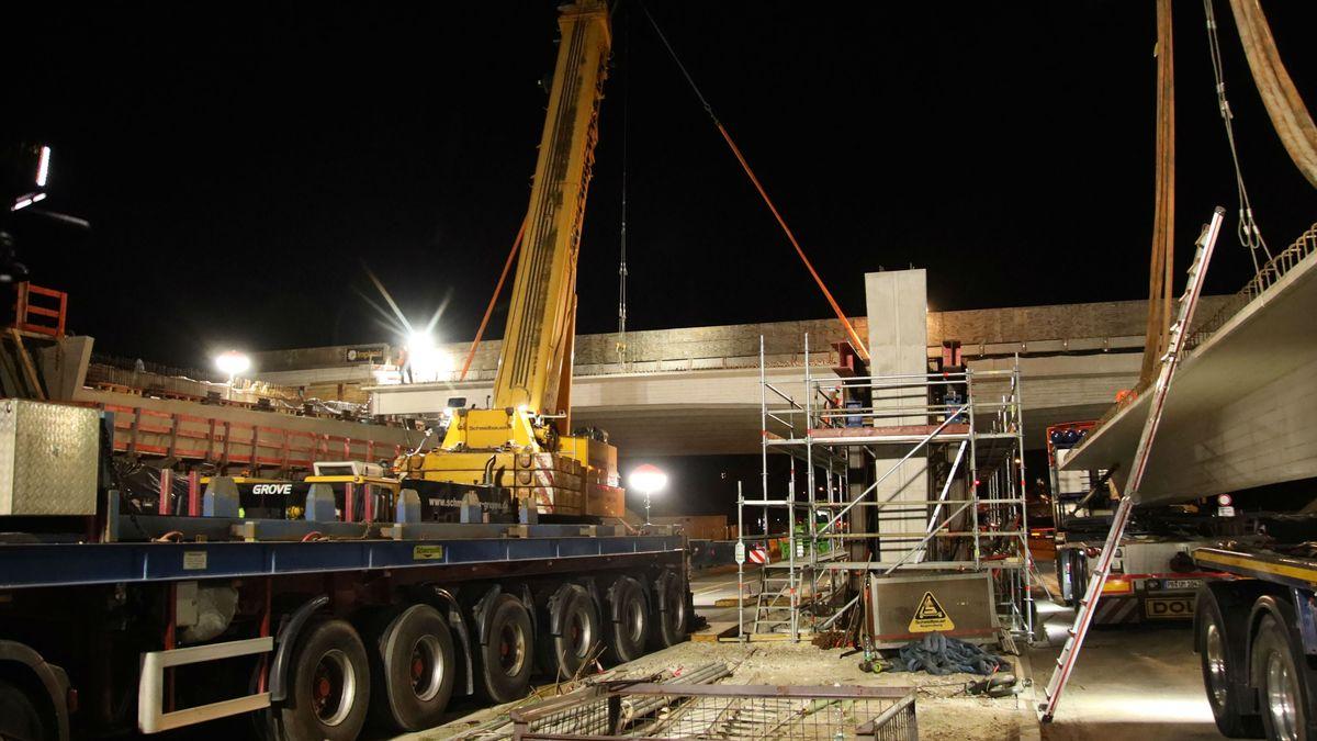 Brückenbauarbeiten an der Max-Planck-Straße in Regensburg