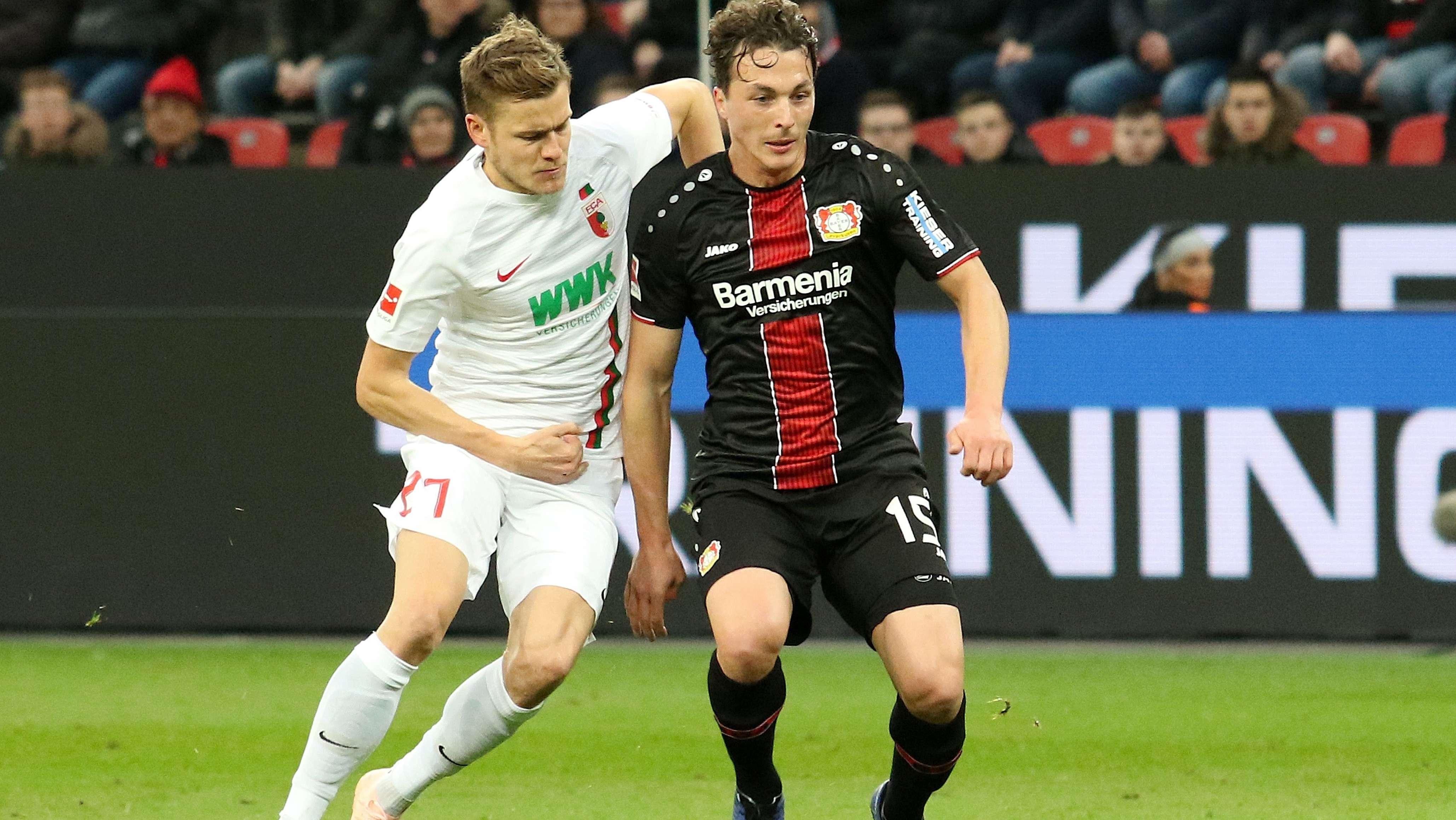 Spielszene Bayer Leverkusen - FC Augsburg