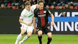 Spielszene Bayer Leverkusen - FC Augsburg | Bild:picture-alliance/dpa