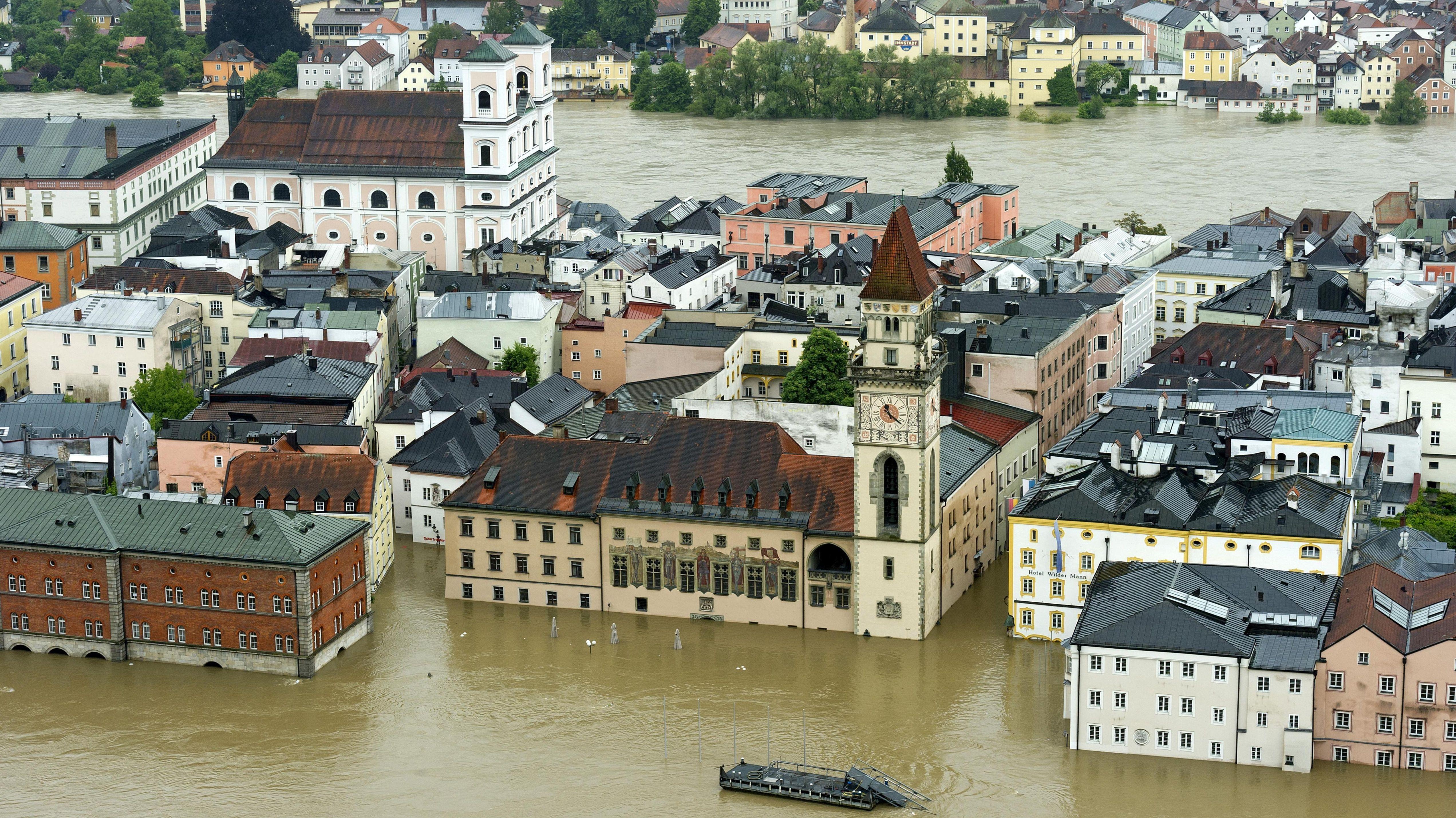 Passau ist am meisten von Starkregen betroffen
