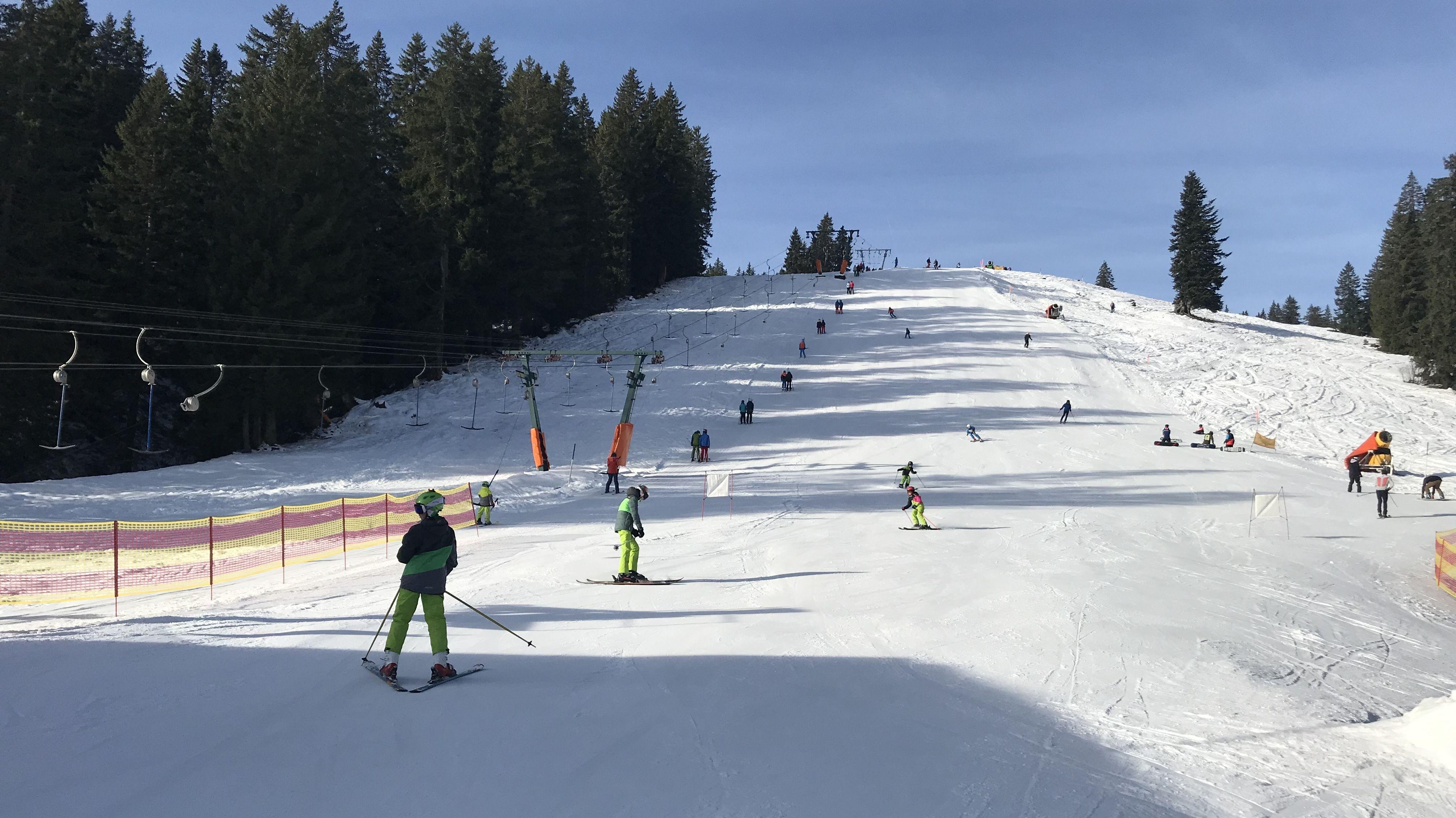 Skifahrer im Oberallgäu