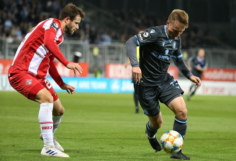 Daniel Hägele (FC Würzburger Kickers), Fabian Greilinger (TSV 1860 München)