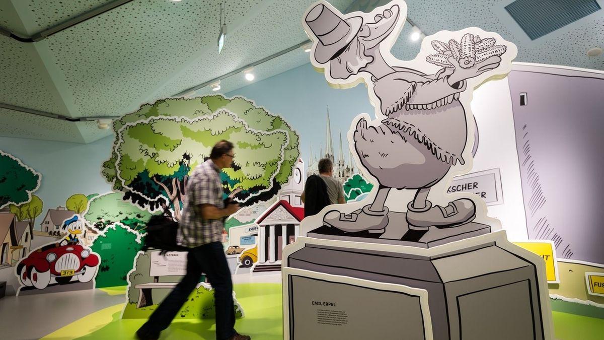 Comic-Ausstellung im Erika-Fuchs-Haus.