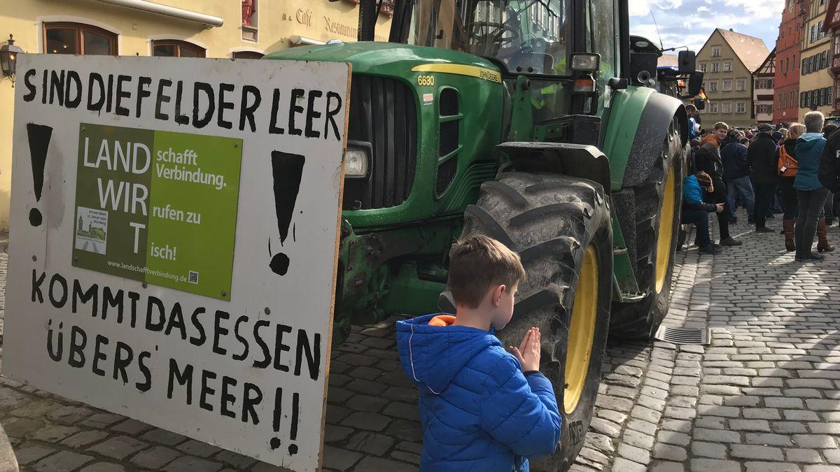 Bauerndemo in Dinkelsbühl