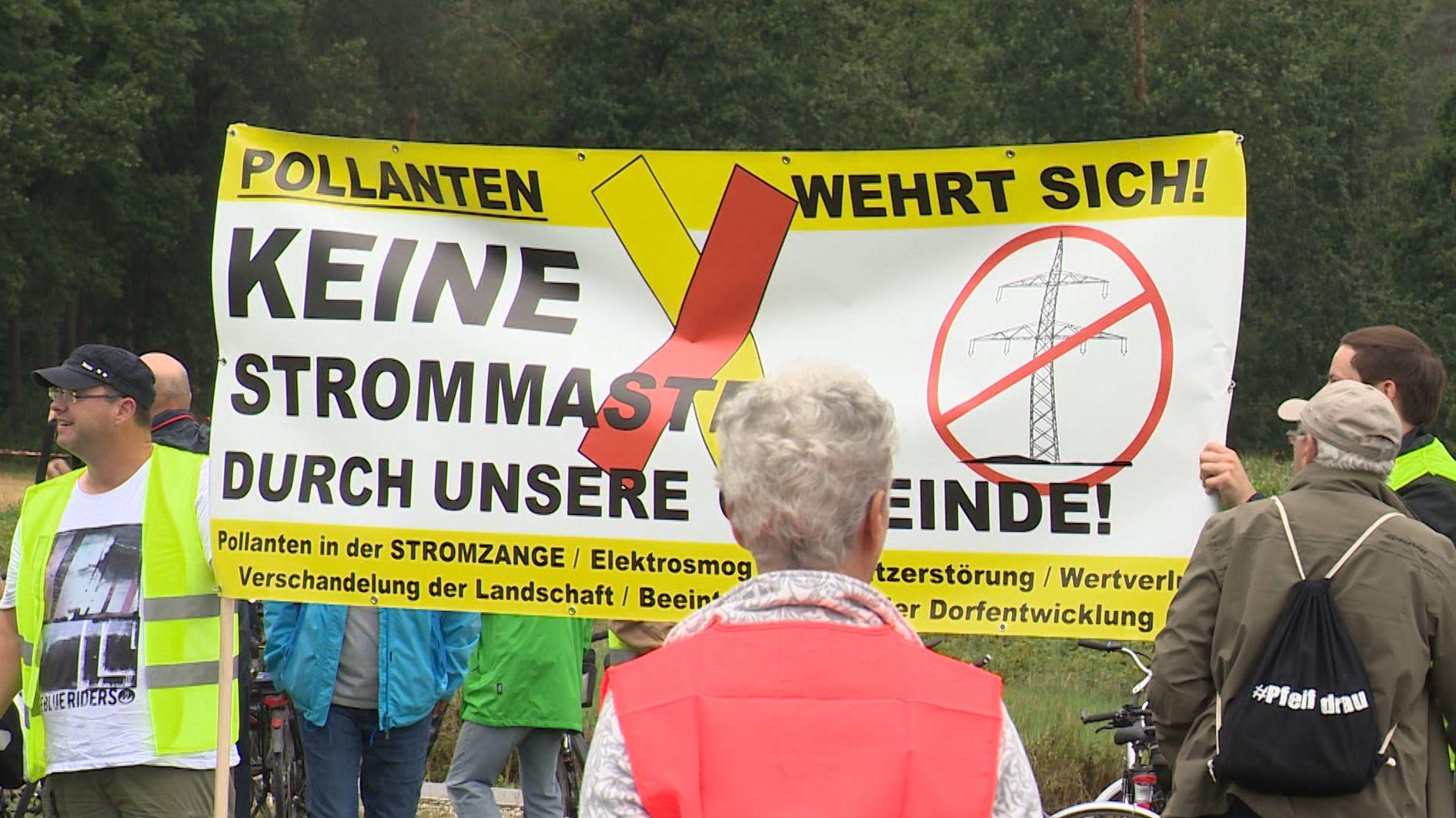 """Protest in Gustenfelden gegen Ausbau """"Juraleitung"""""""