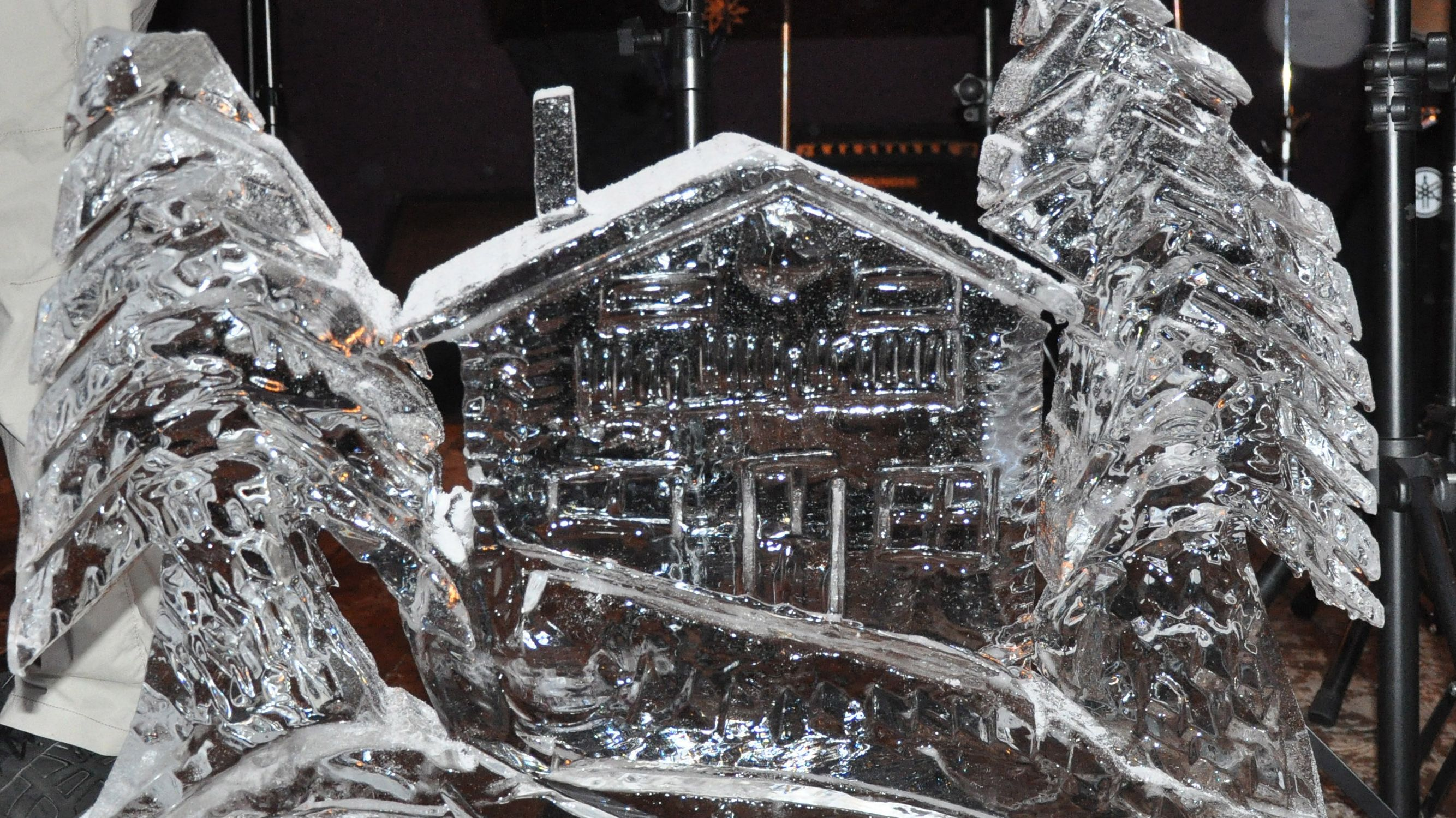 Eisskulptur vom Europameister im Eisskulpturenschnitzen, Christian Staber