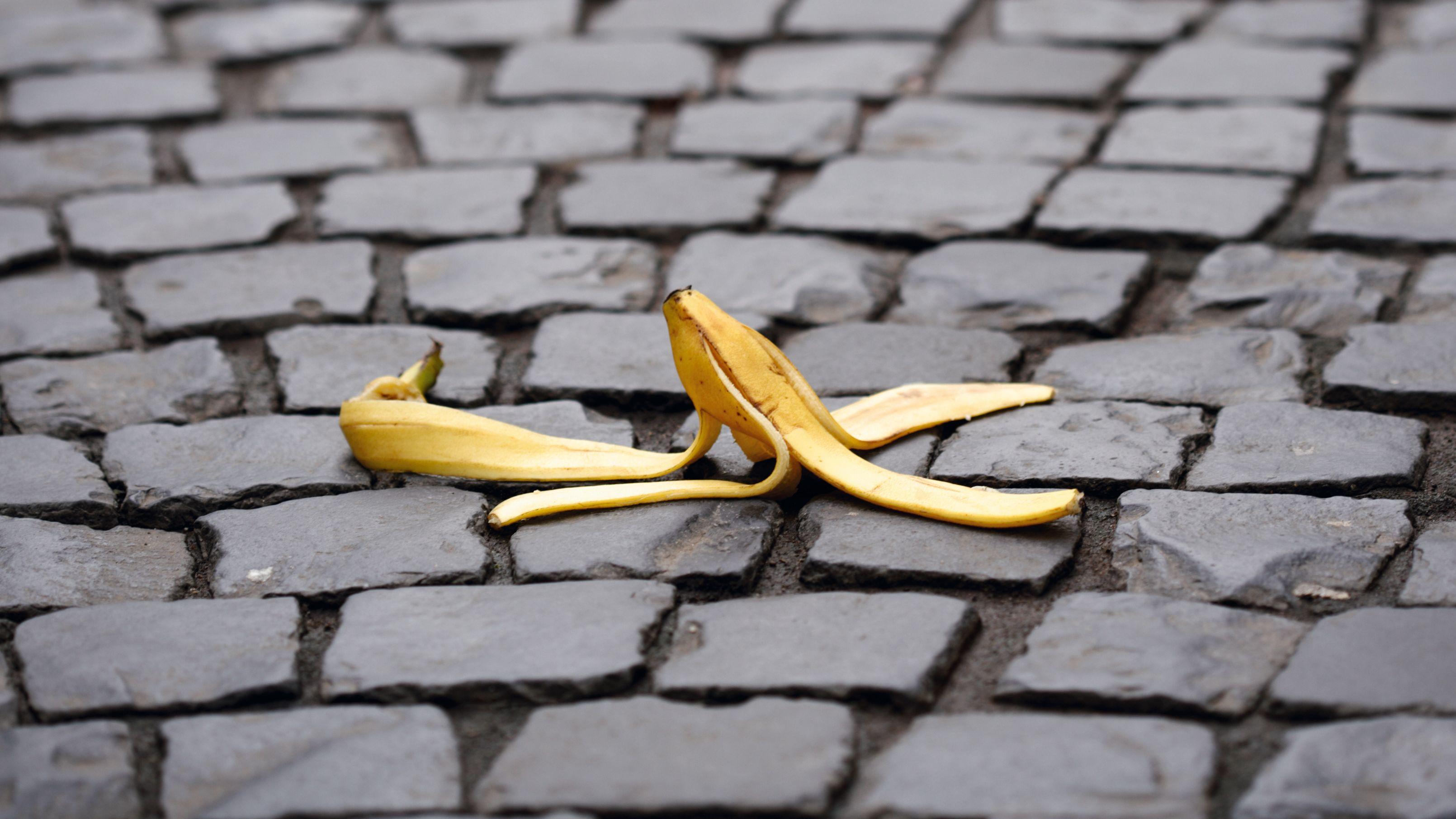 Symbolbild: Bananenschale
