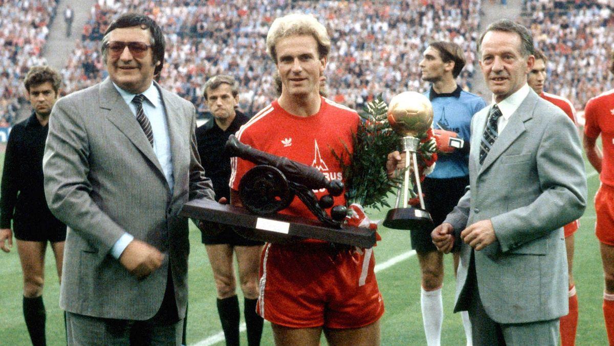 Karl-Heinz Rummenigge, der Bundesligatorschützenkönig der Saison 1979/80 mit 26 Treffern