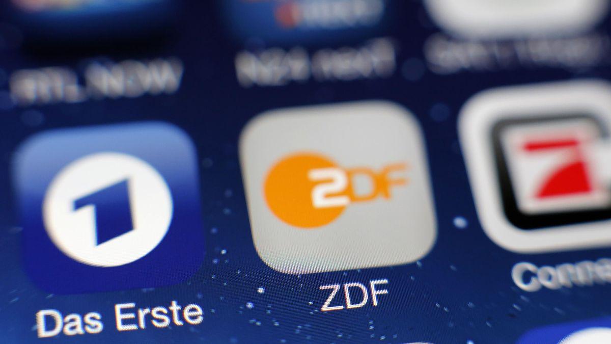 """""""Das Erste"""" und ZDF-Icon auf einem Monitor"""