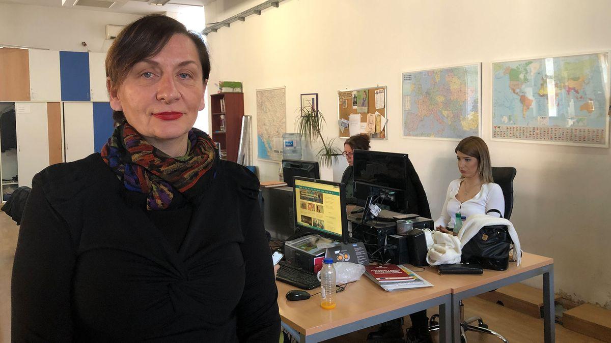 Die Präsidentin des Zentrums für investigativen Journalismus in Montenegro