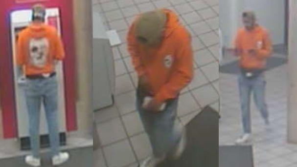 Gesuchter Täter hebt mit gestohlener Bank-Card Geld am Automaten ab.