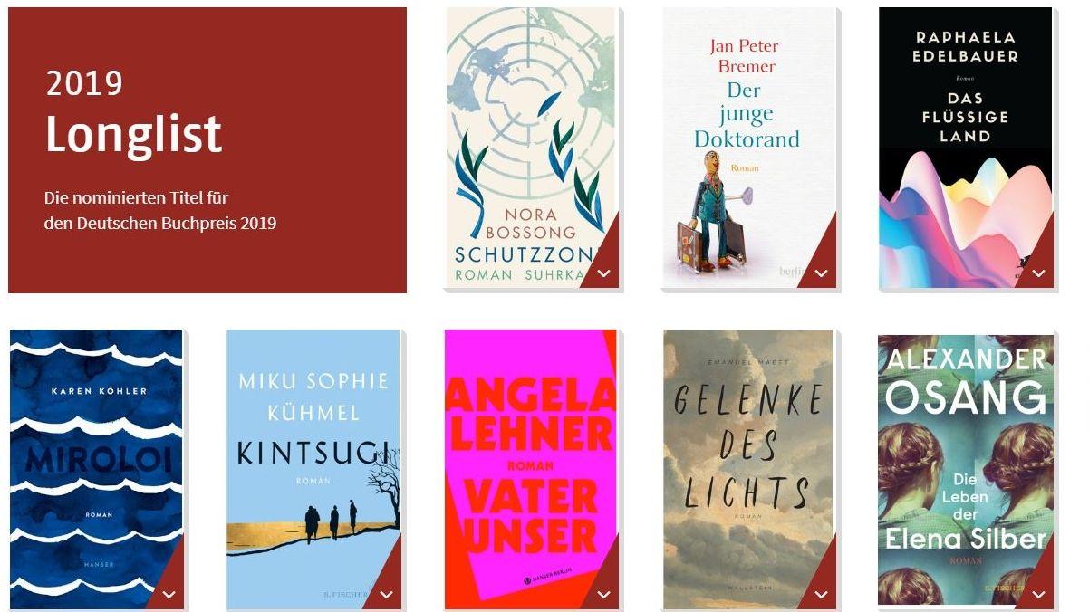 Aus der Longlist des Deutschen Buchpreises