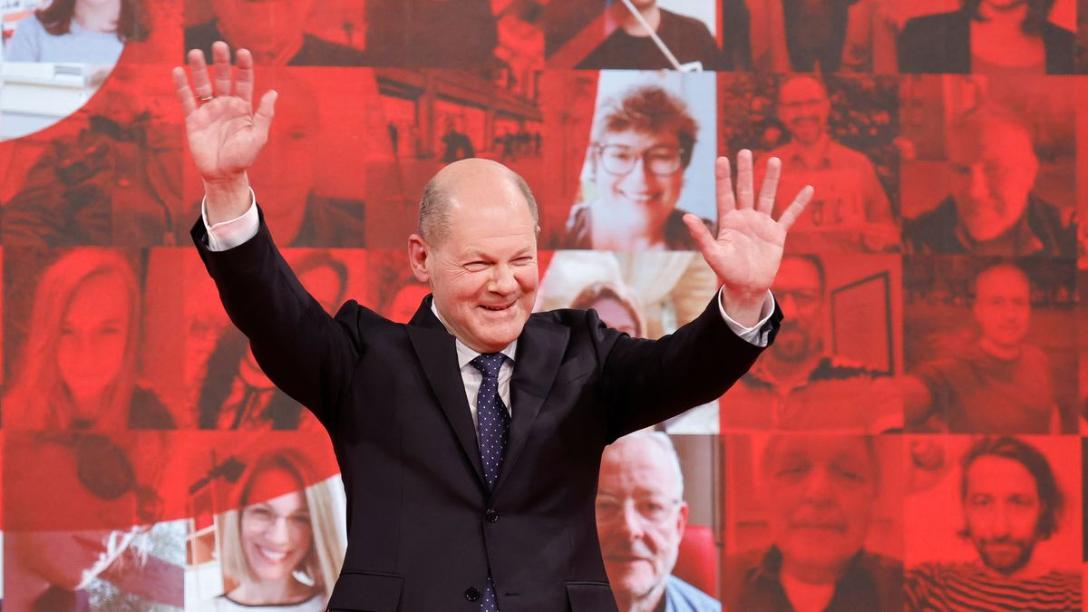 Olaf Scholz am 9. Mai 2021 in Berlin.
