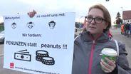 Streik in Katterbach vor US Kaserne | Bild:BR
