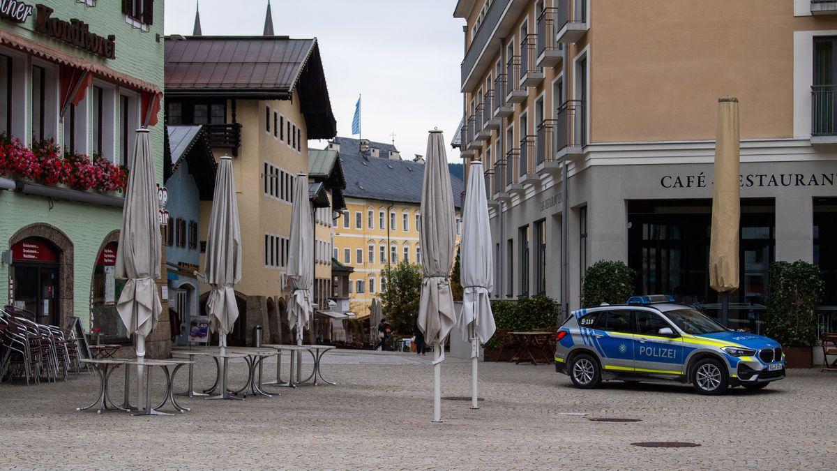 Die leere Innenstadt von Berchtesgaden