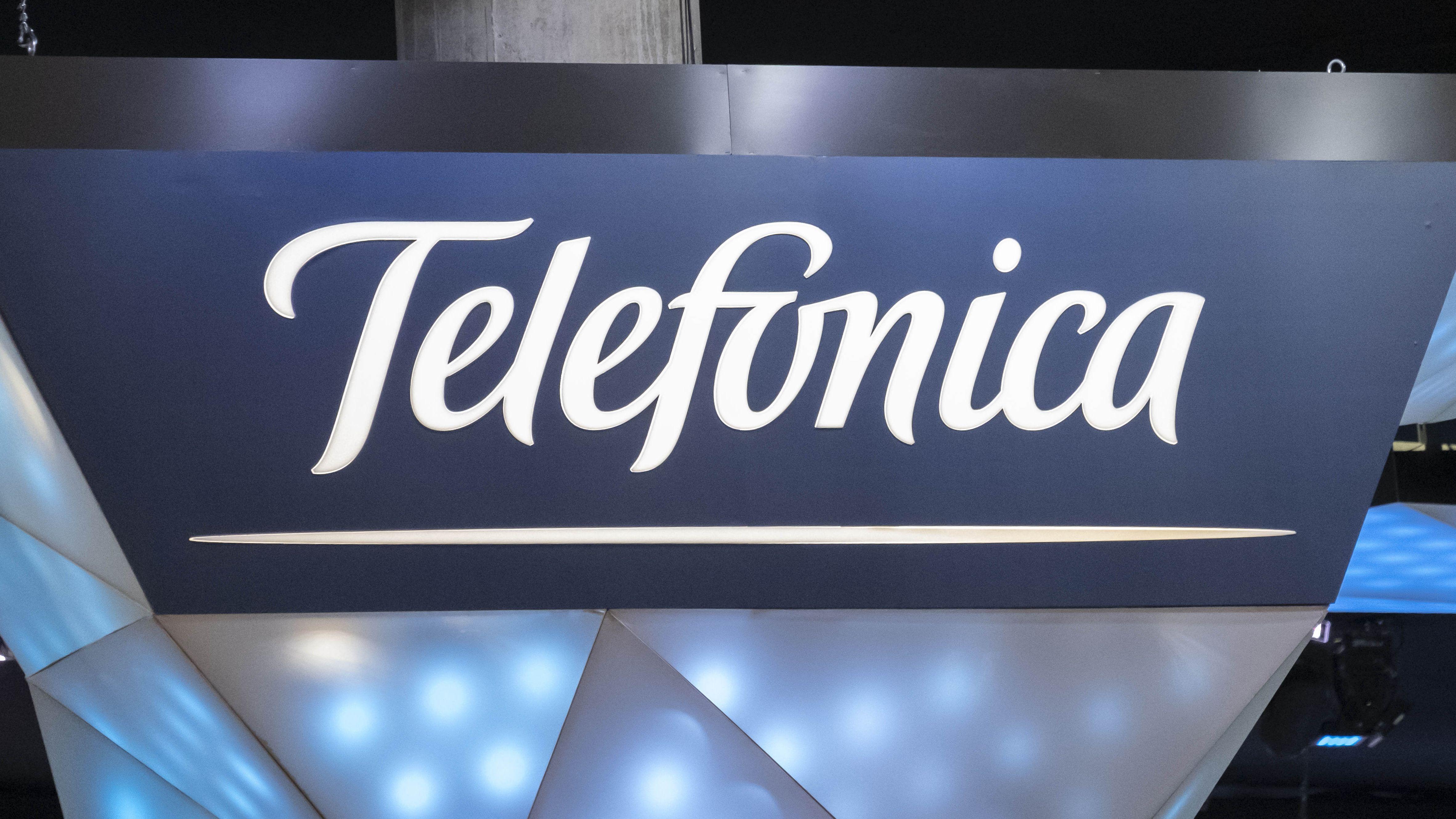 Das Logo der Telefónica Deutschland Holding AG mit Sitz in München.