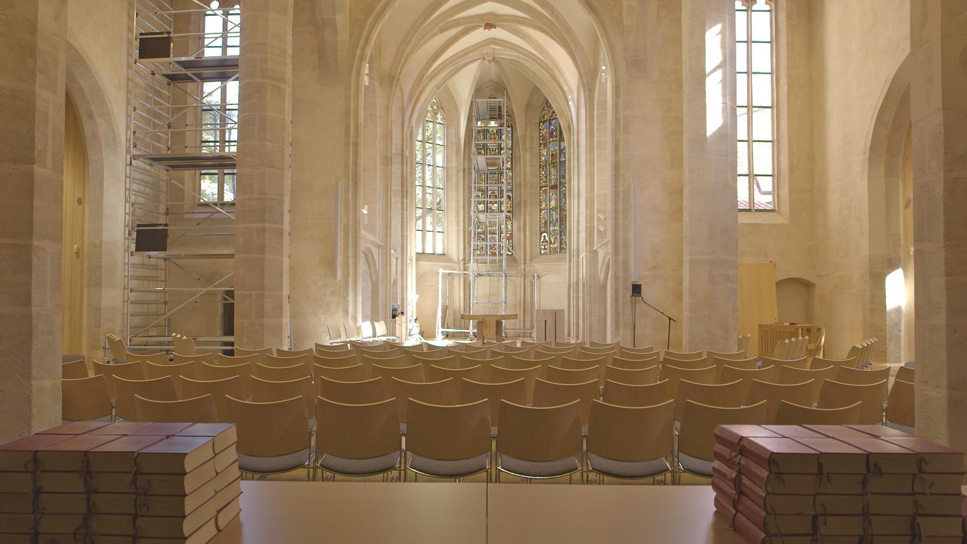 Innenansicht der Kirche St. Martha in Nürnberg.