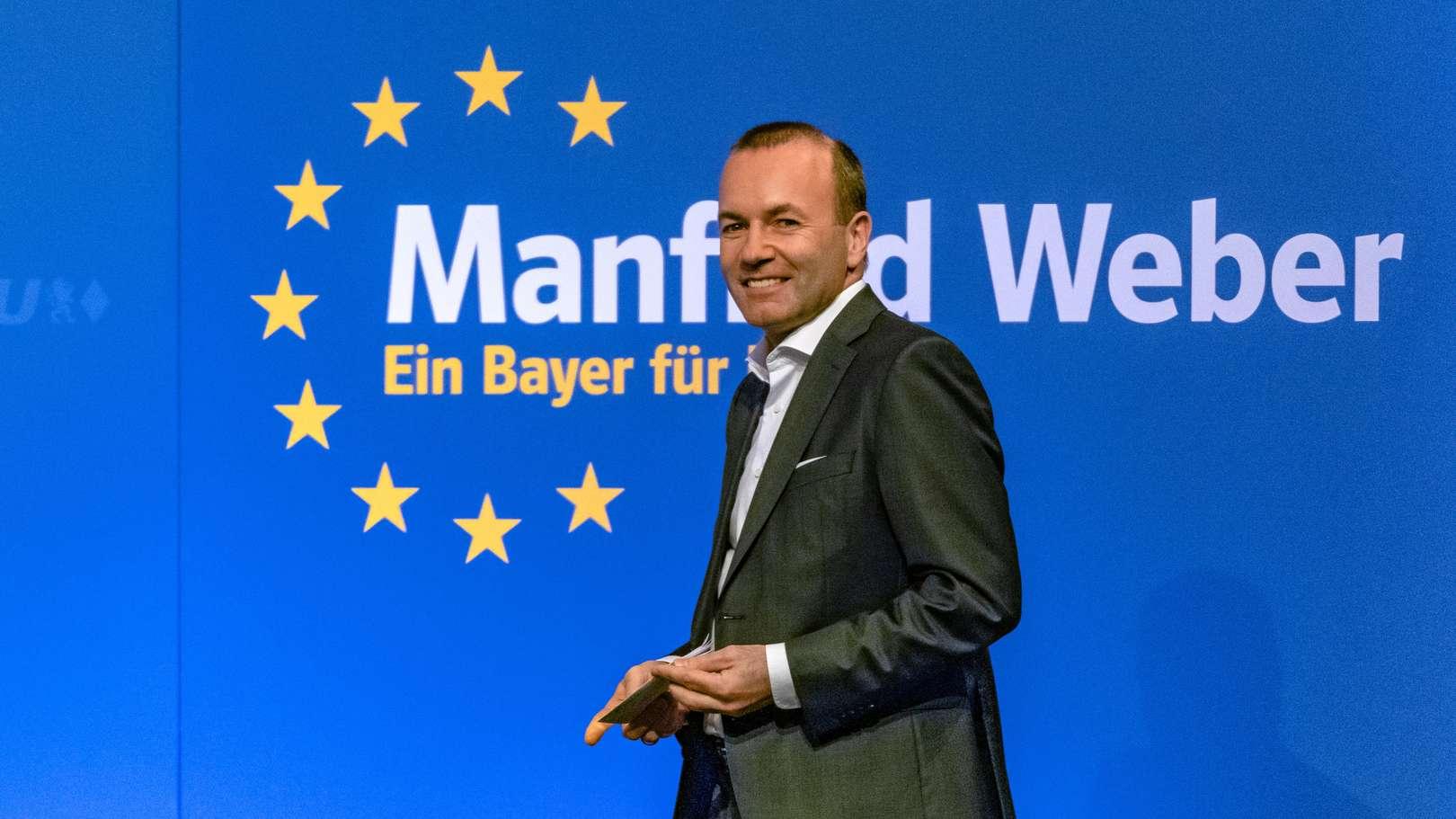 """Mit zwölf """"Zusagen für die Zukunft Europas"""" will Manfred Weber EU-Kommissionspräsident werden."""