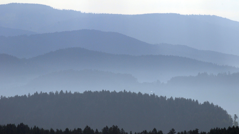 Berglandschaft in der Nähe von Viechtach