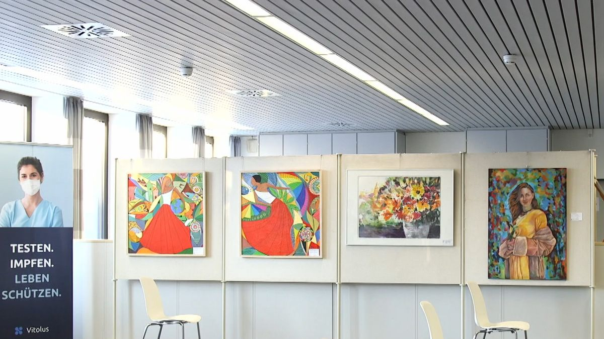 Kunst in Rother Corona-Impfzentrum