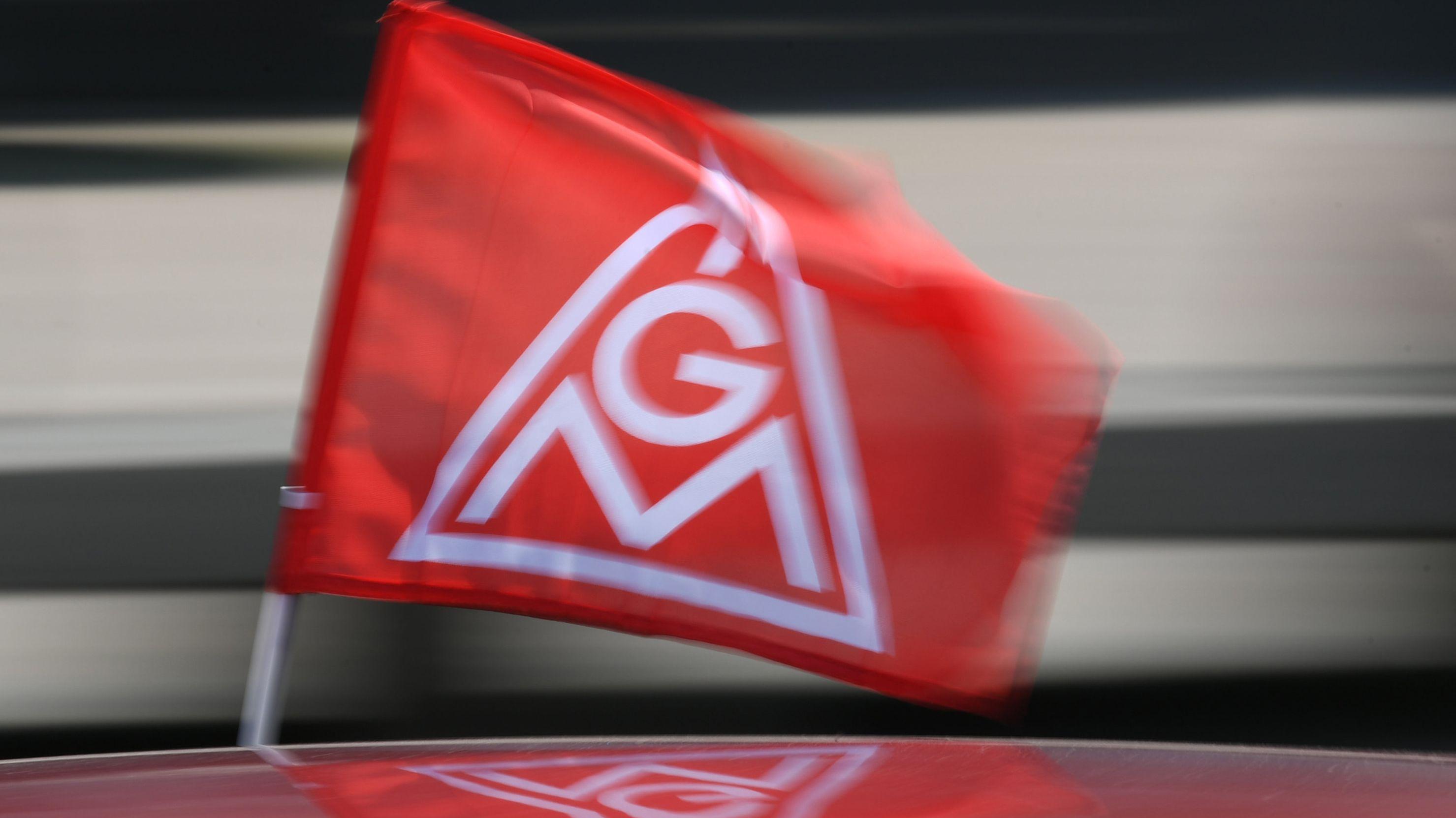 Eine IG Metall-Fahne