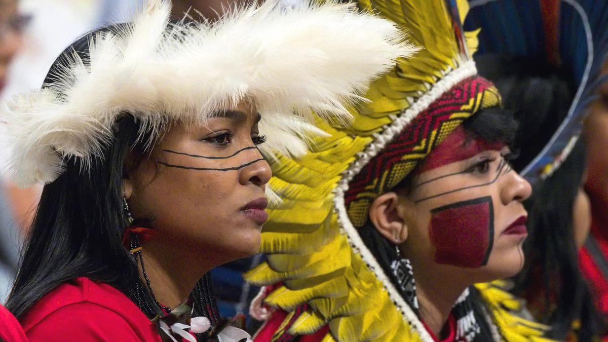 Teilnehmer der Bischofssynode über die Amazonas-Region bei einer Messe im Petersdom