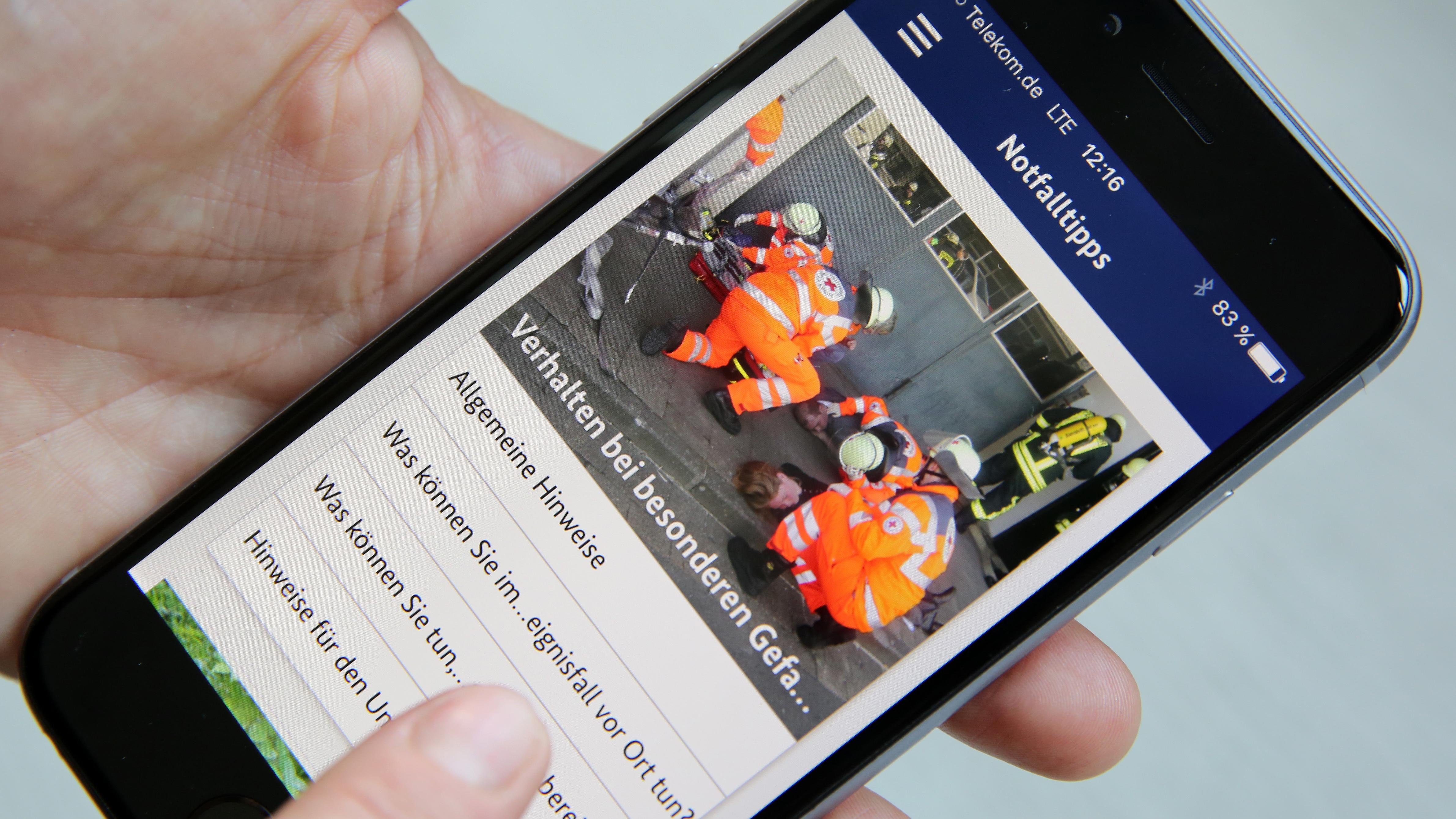 Die App NINA (Notfall-Informations- und Nachrichten-App des Bundes)