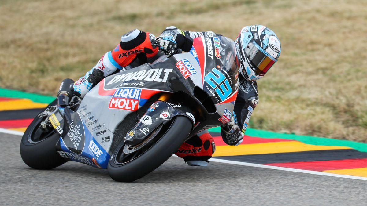 Moto2 auf dem Sachsenring: Der deutsche Fahrer Marcel Schrötter.