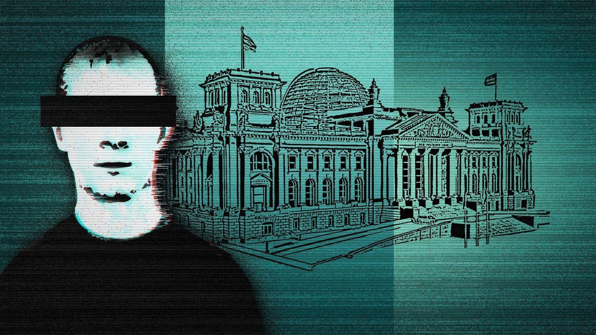 Hacker mit Reichstagsgebäude, BR-Grafik