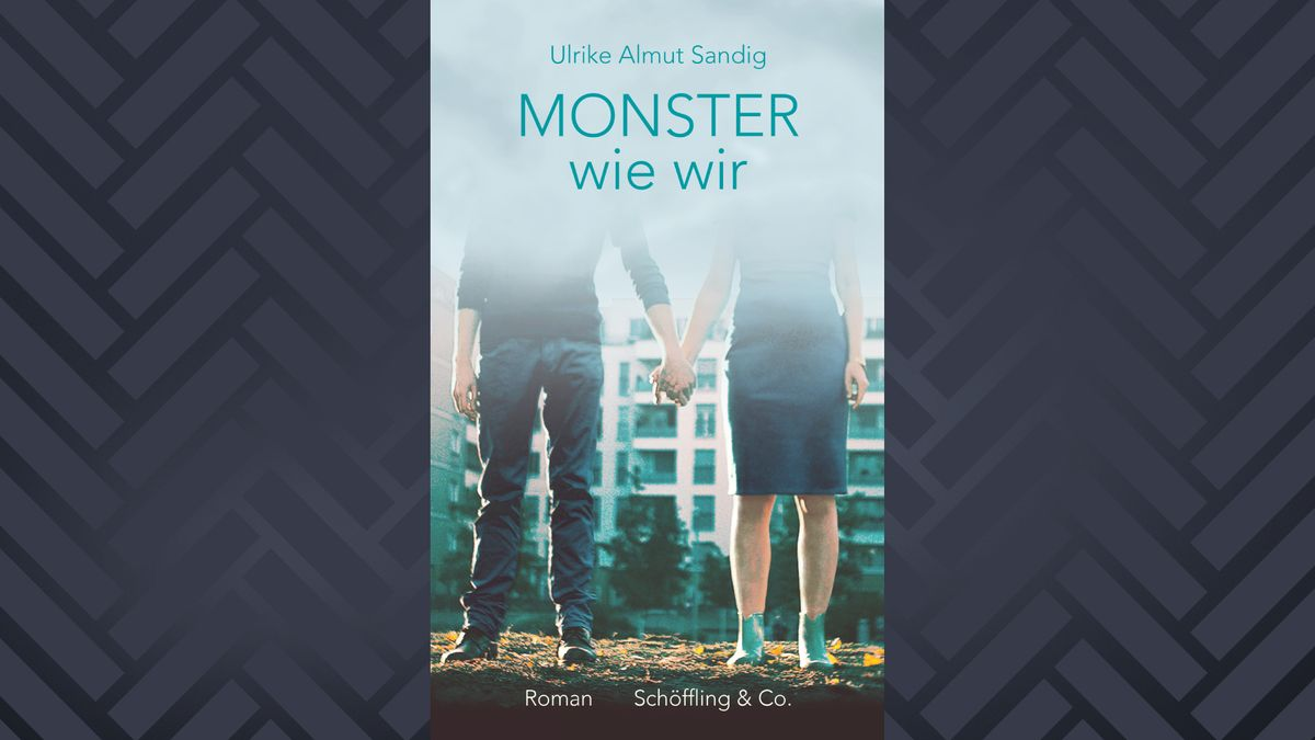 """Cover des Buches """"Monster wie wir"""": Ein Mann und eine Frau halten Hände und sind von hinten zu sehen."""
