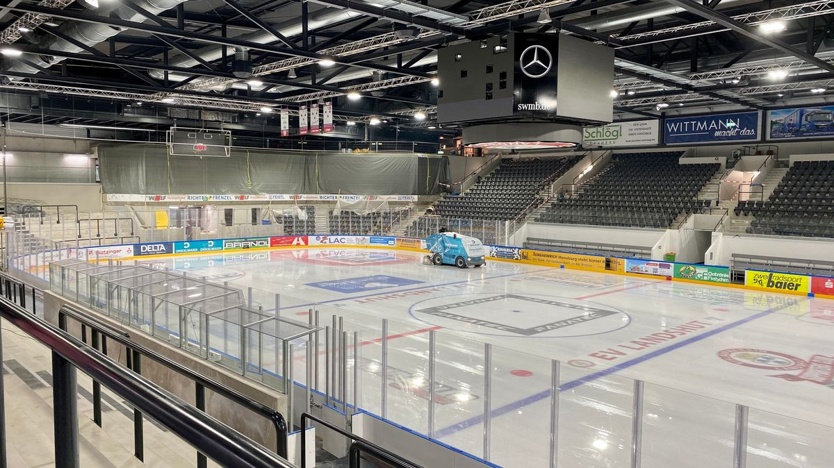 Das neue Eisstadion in Landshut