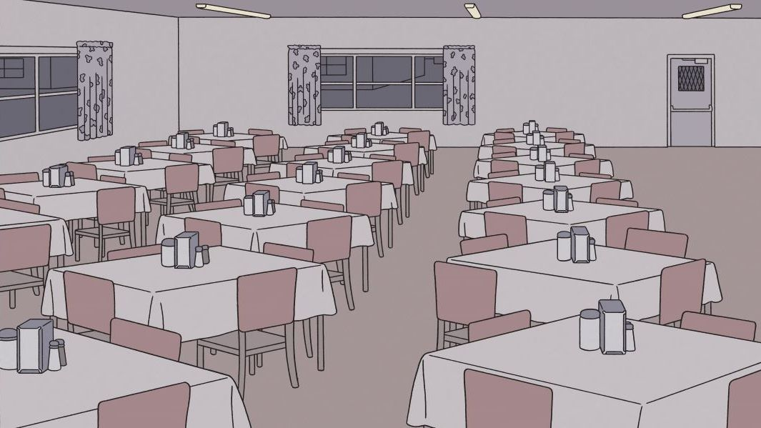 """Ein leerer Speisesaal: Ausschnitt aus """"Sabrina"""" von Nick Drnaso"""
