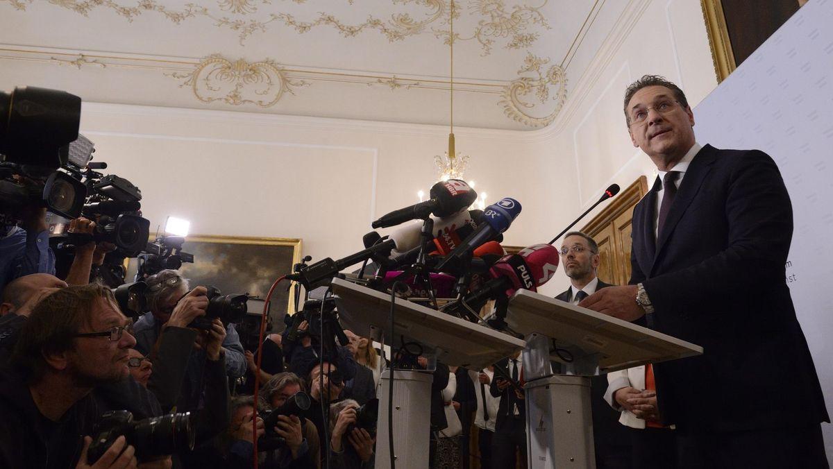 Heinz-Christian Strache tritt als FPÖ-Chef und Vizekanzler zurück.