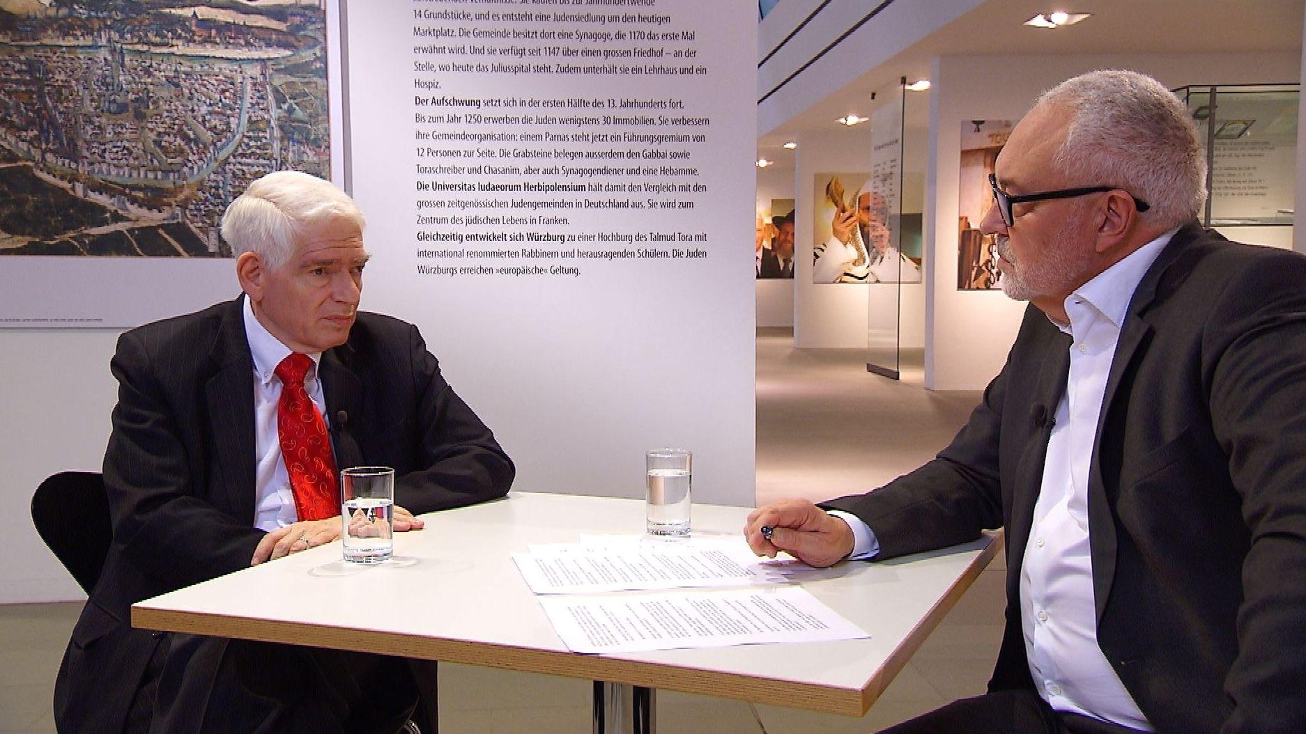 Josef Schuster, Präsident des Zentralrats der Juden in Deutschland, im Gespräch mit Andreas Bönte