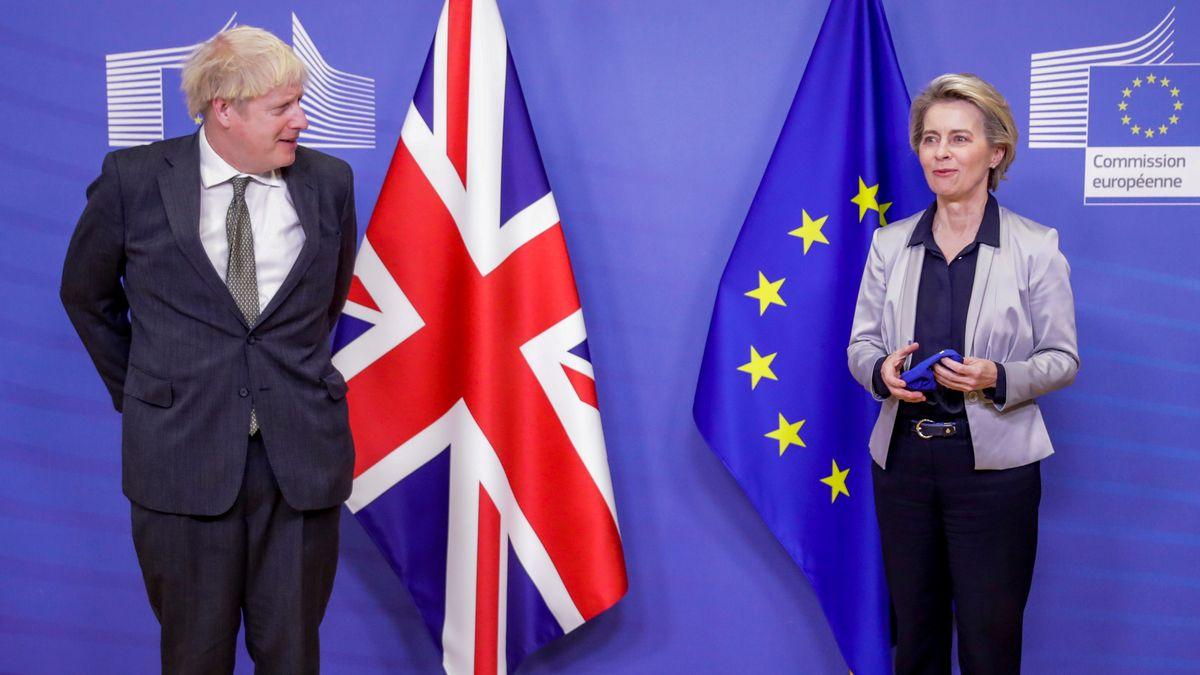 Britischer Premier Johnson mit EU-Kommissionspräsidentin von der Leyen, Brüssel, 9. Dezember 2020