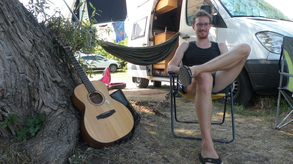 Hannes Wittmer wegen Corona auf Campingplatz