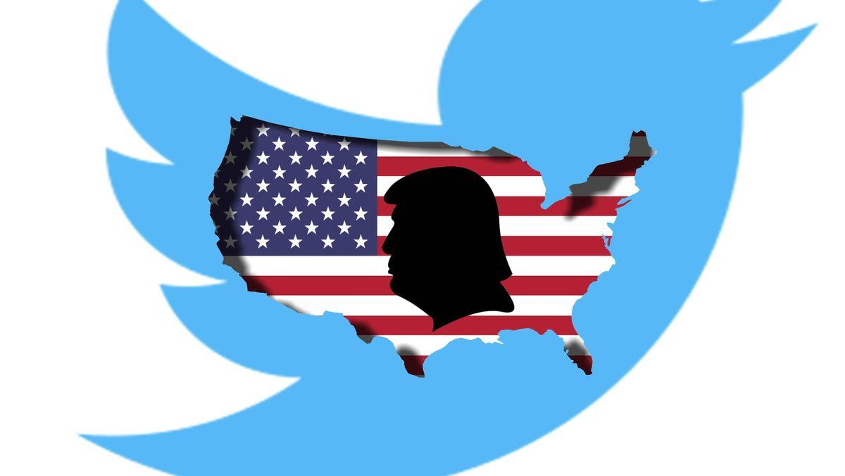 Trump-Profil auf Twitter-Vogel