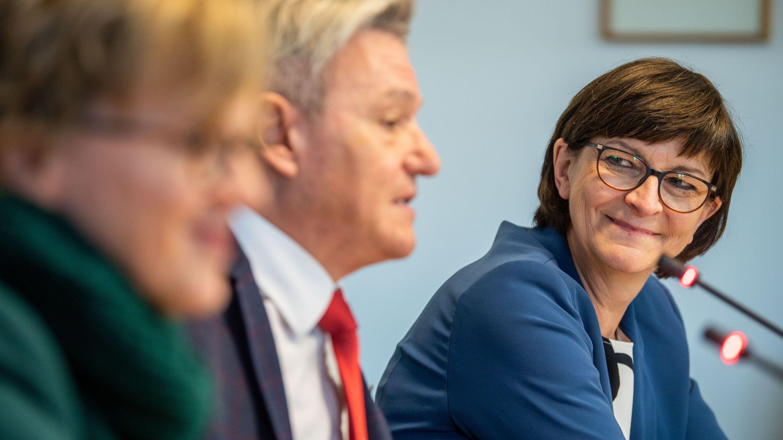SPD-Chefin Saskia Esken besuchte am Dienstag die Winterklausur der bayerischen Landtagsfraktion.