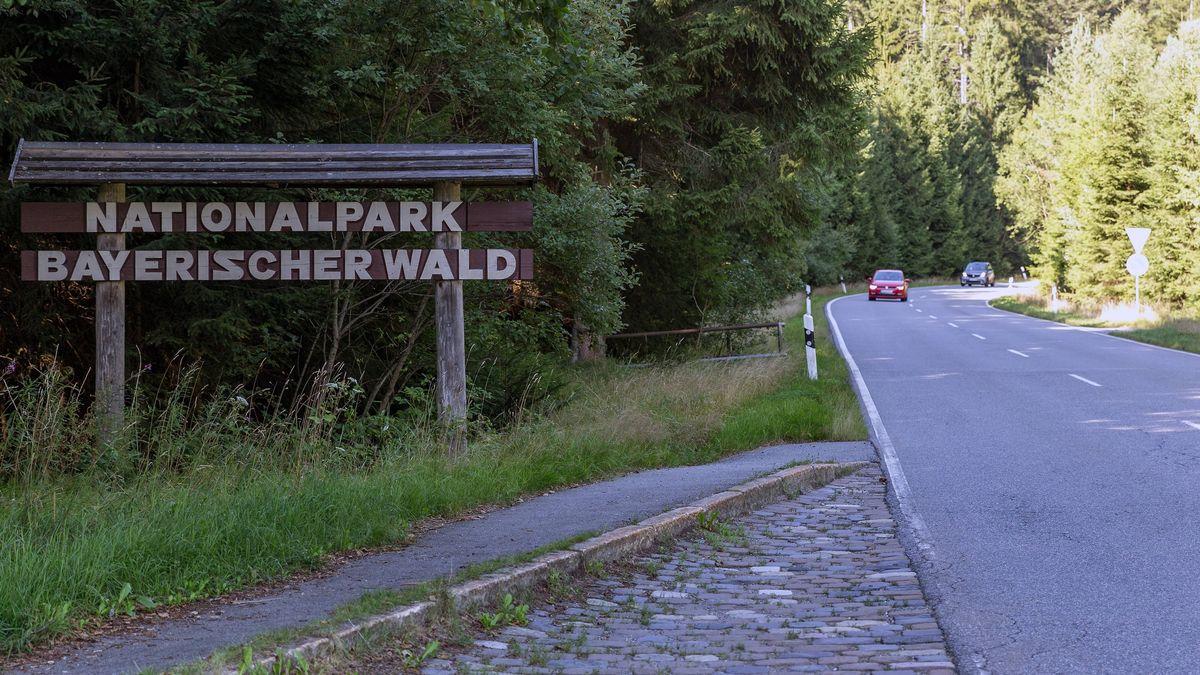 Die Nationalparkstraße im Bayerischen Wald.