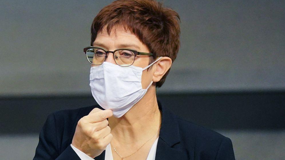 CDU-Chefin Annegret Kramp-Karrenbauer | Bild:pa/dpa