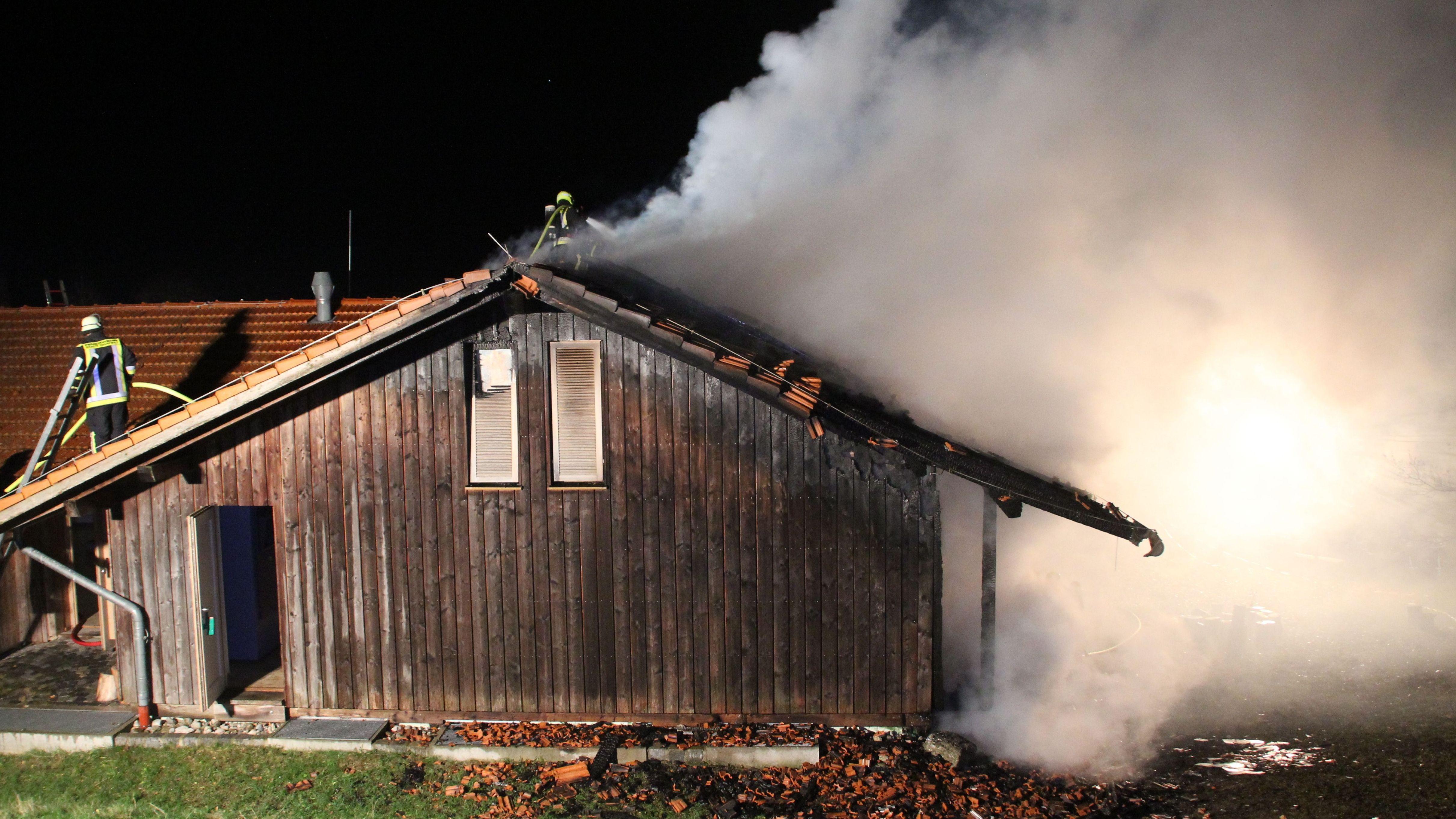 Feuer im Waldmuseum Ebersberg