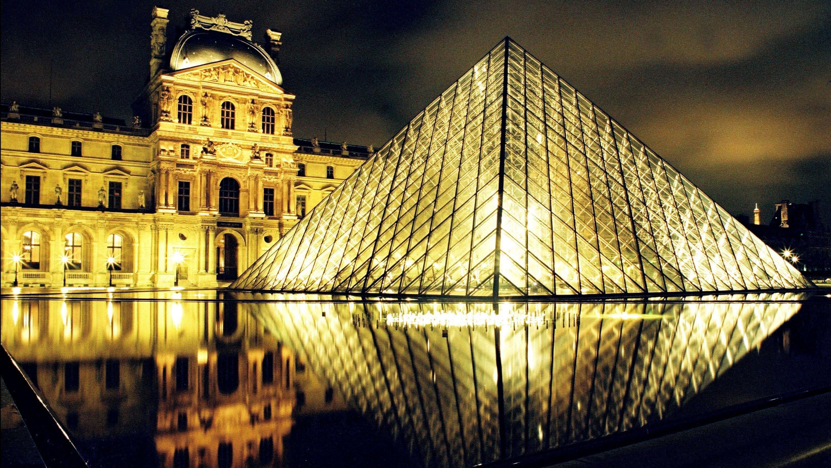 Louvre und Pyramide von I. M. Pei