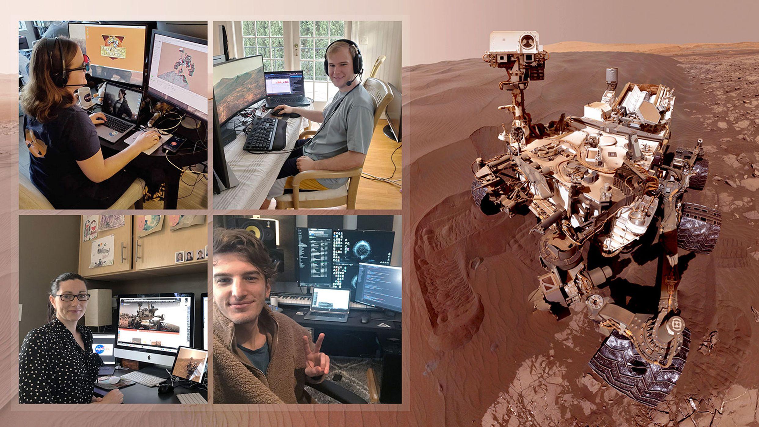 Mitarbeiter der NASA steuern den Mars Rover aus dem Homeoffice