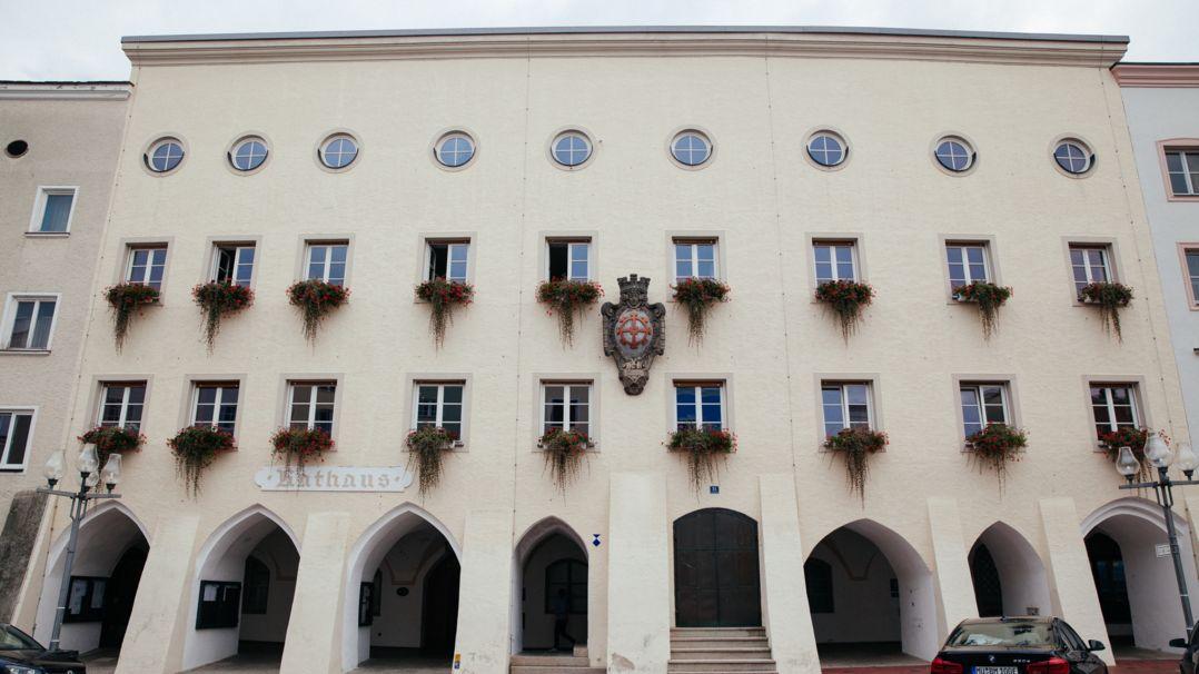 Das Rathaus von Mühldorf am Inn