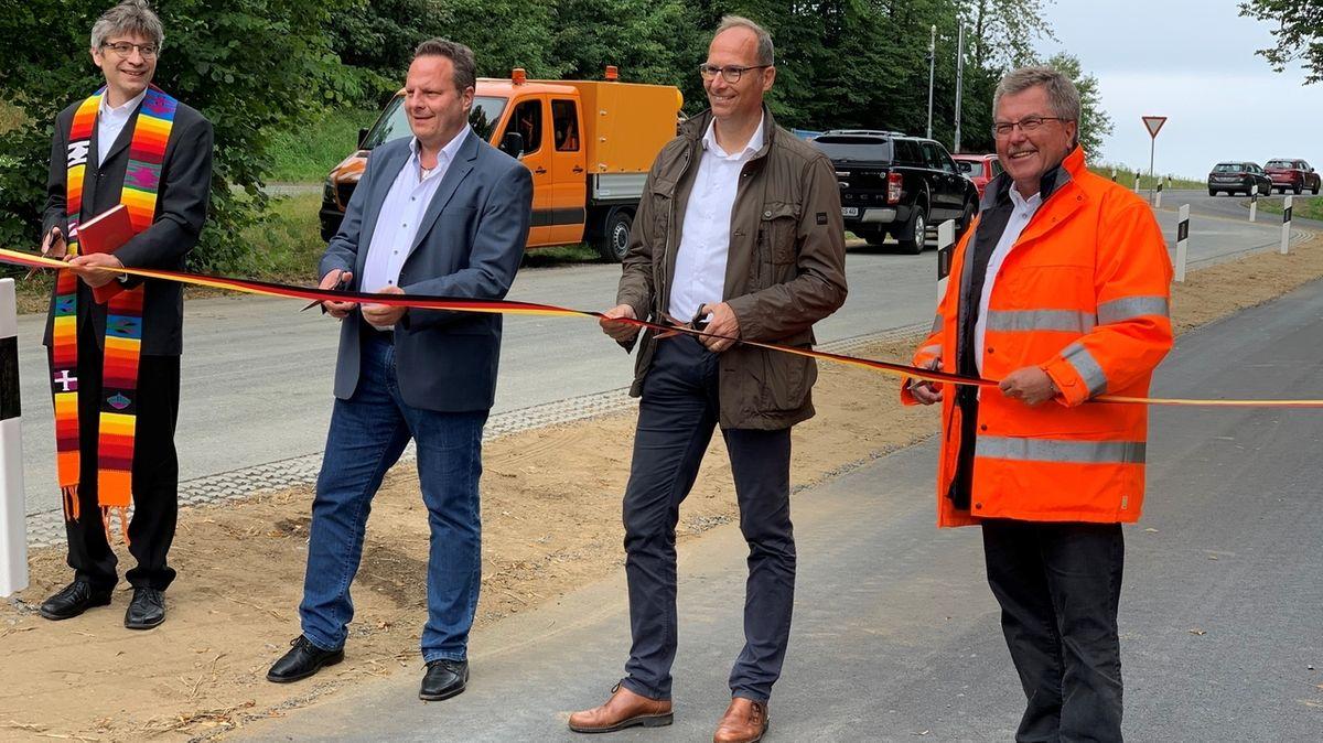 Neuer Radweg zwischen Lösau und Kirchleus